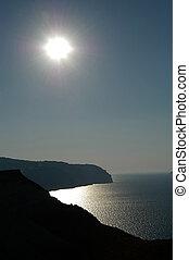 Santorini afternoon - afternoon sun in Santorini, Greece
