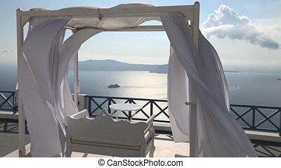 Santorini Balcony Looking To Sea