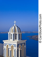 Santorini church - Greece - Santorini church (Firostefani) -...