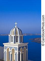 Santorini church - Greece - Santorini church (Firostefani) -...