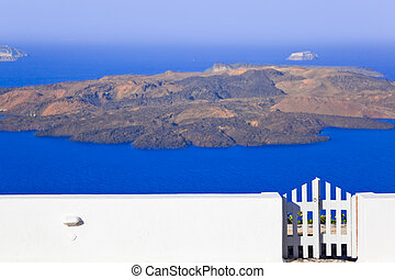 Santorini (Greece) - view to volcano