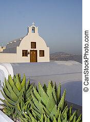 santorini greek island church