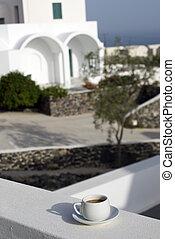 greek island coffee