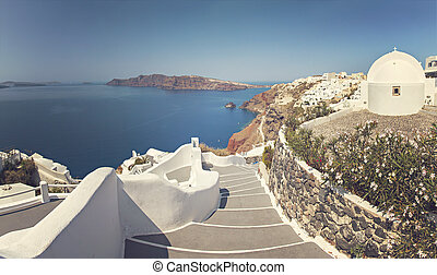 Santorini island panorama
