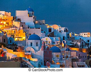 santorini, oia, řecko