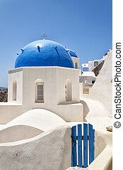 Santorini Oia Church 01 - A view of a couple of the famous...