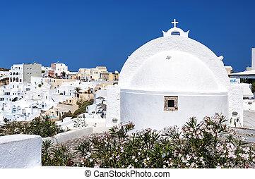 Santorini Oia Church Rear