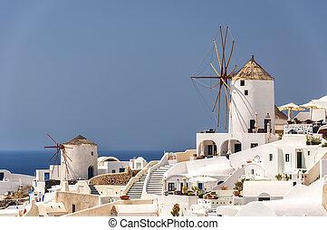 Santorini Oia Windmills