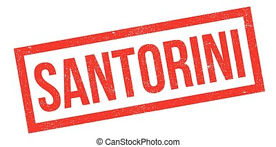 Santorini rubber stamp