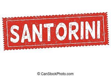 Santorini sign o stamp