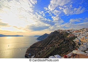 Santorini sunset Greece