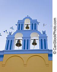 santorini, templom, -, görögország