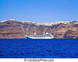 Santorini view (Greece) - travel background