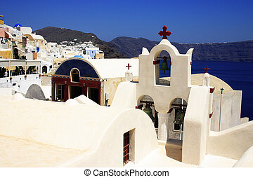 Santorini village view