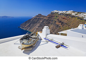 santorini, vista, -, grécia