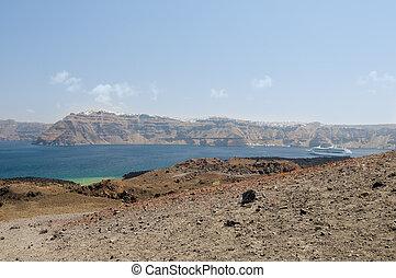 Santorini volcano view
