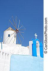Santorini Windmill 01
