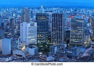 Sao Paulo in night time