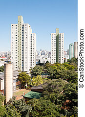 Sao paulo, residential area of the Bras