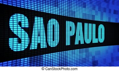 SAO PAULO Side Text Scrolling LED Wall Pannel Display Sign Board