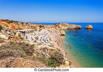 Sao Rafael beach in Albufeira, Algarve region, Portugal