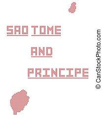 Sao Tome And Principe Africa Dot Map