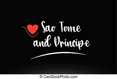 Sao Tome and Principe country text typography logo icon...