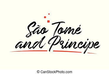 Sao Tome and Principe country typography word text for logo...