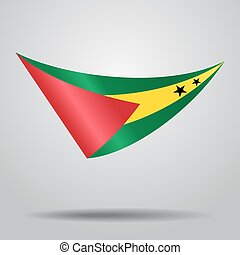 Sao Tome and Principe flag background. Vector illustration....