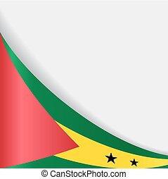 Sao Tome and Principe flag background. Vector illustration.