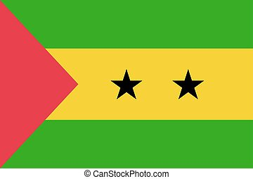 Sao Tome and Principe flag. National current flag,...