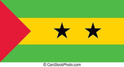 Sao Tome and Principe flag - Vector Sao Tome and Principe...