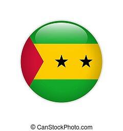 Sao Tome and Principe flag on button