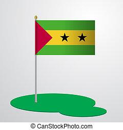 Sao Tome and Principe Flag Pole