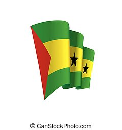 Sao Tome and Principe flag, vector illustration