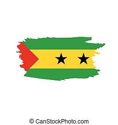 Sao Tome and Principe flag, vector illustration on a white...