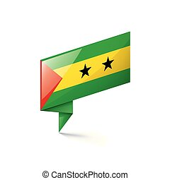 Sao Tome and Principe flag, vector illustration on a white...