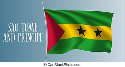 Sao Tome and Principe flag vector illustration