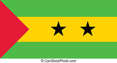 Vector Sao Tome and Principe national flag