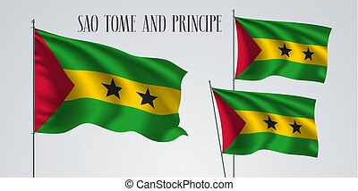 Sao Tome and Principe flag vector - Sao Tome and Principe...