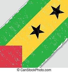 Sao Tome and Principe grunge flag. Vector illustration. -...