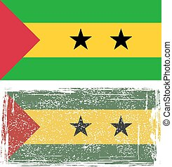 Sao Tome and Principe grunge flag. Vector illustration