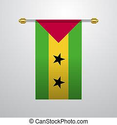 Sao Tome and Principe hanging Flag