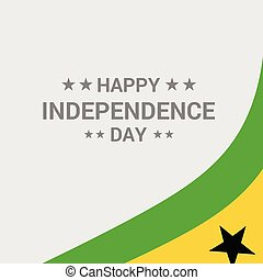 Sao Tome and Principe Independence day typographic design with flag vector