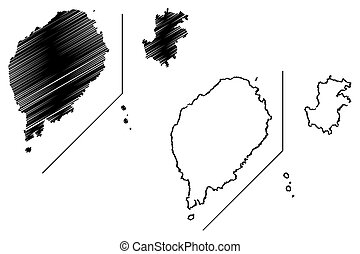 Sao Tome and Principe map vector