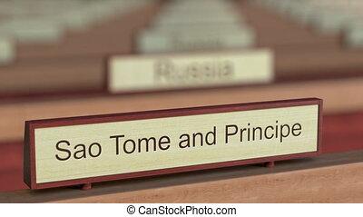 Sao Tome and Principe name sign among different countries...