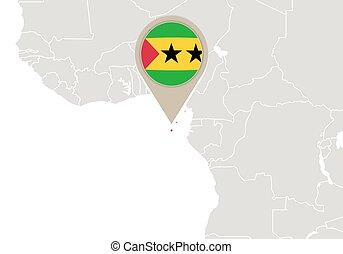Sao Tome and Principe on World map