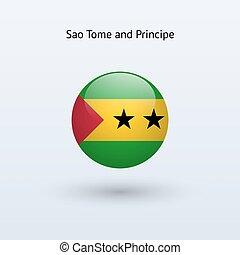 Sao Tome and Principe round flag. - Sao Tome and Principe...