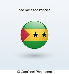 Sao Tome and Principe round flag. - Sao Tome and Principe...
