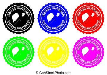 Sao Tome and Principe - rubber stamp - vector, Sao Tome and...